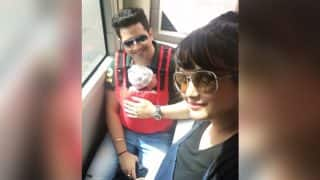 These Pics From Karan Mehra And Nisha Rawal's Newborn Kavish's First Flight Journey Cannot Be Missed - View Pics