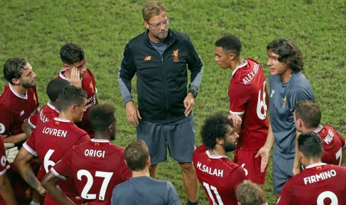 File image of Jurgen Klopp with his team Liverpool.