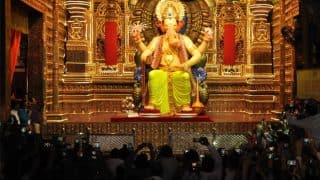 Lalbaugcha Raja Day 4 Live Darshan 2017: Watch Aarti, Mukh Darshan with Online Streaming from Mumbai's Famous Ganpati Pandal