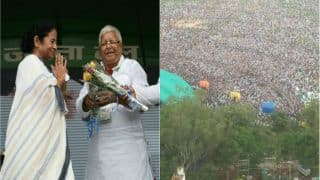 Lalu's Mega Rally: In Next Election, People of Bihar Will Leave Nitish Kumar and BJP, Says Mamata Banerjee