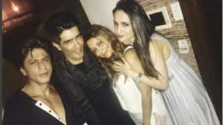 Shah Rukh Khan, Gauri Khan And Manish Malhotra Know How To Work Hard And Party Harder! (View Pic)