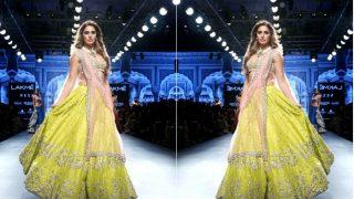 Nargis Fakhri Had Us Drooling Over Her Gorgeous Embellished Lehenga at Lakme Fashion Week 2017!