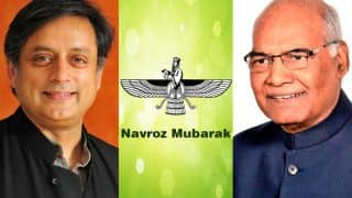 Parsi New Year 2017: President Ram Nath Kovind, Shashi Tharoor And Other Leaders Wish Happy Navroz And Pateti
