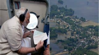 Narendra Modi Conducts Aerial Survey of Flood Affected Regions in Bihar, Announces Rs 500 Crore Relief