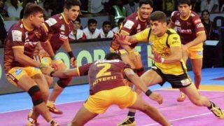प्रो कबड्डी लीग: रोमांचक मुकाबले में यूपी योद्धा ने दी तेलुगू टाइटंस को मात