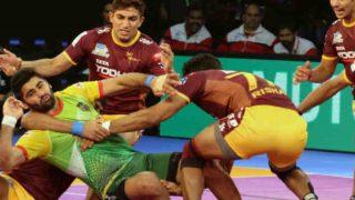 प्रो कबड्डी लीग: पटना पाइरेट्स और यूपी योद्धा का मैच टाई, गुजरात ने जयपुर पिंक पैंथर्स को हराया