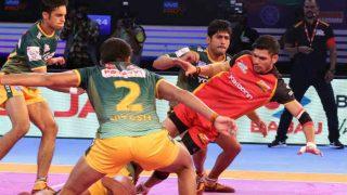 प्रो कबड्डी लीग: यूपी योद्धा की लगातार दूसरी जीत, दबंग दिल्ली की लगातार तीसरी हार