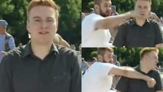 Russian Reporter Punched in The Face! Watch Video of Passerby Swearing & Assaulting Innocent News Reader on Live TV