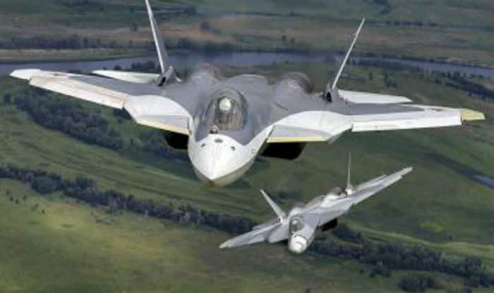 The Su-57 is a single-seat, twin-engine multi-role stealth fighter designed for air superiority and attack roles.