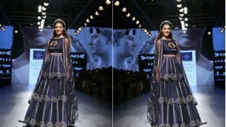 Saiyami Kher Looks Gorgeous as Nachiket Barve's Showstopping Bride at Lakme Fashion Week 2017!