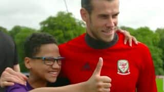Young Fan Meets Football Idol Gareth Bale, Video Goes Viral