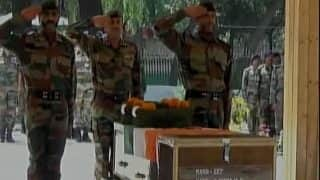 J&K: Chinar Corps Pay Homage to Sepoy Ilayaraja P, Sepoy Gawai Sumedh Waman Martyred in Shopian Encounter