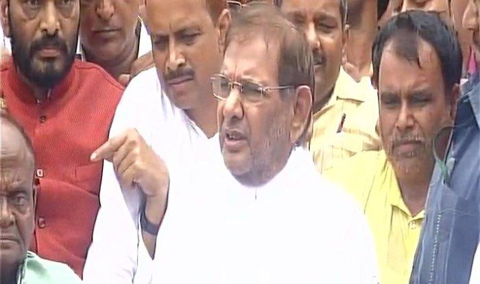 जेडीयू ने शरद को राज्यसभा में संसदीय दल के नेता पद से हटा दिया. फोटो क्रेडिट: ANI