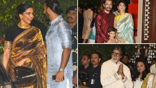 Ganesh Chaturthi 2017: Ranveer Singh And Deepika Padukone, Aamir Khan, Amitabh Bachchan Attend Mukesh Ambani's Party - View HQ Pics