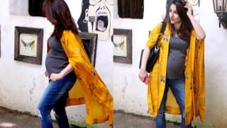 Soha Ali Khan Flaunts Her Baby Bump As She Gets Clicked Outside A Salon - View Pics
