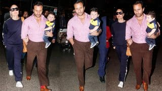 Kareena Kapoor Khan And Saif Ali Khan Return With Taimur From His First International Vacay- View Pics