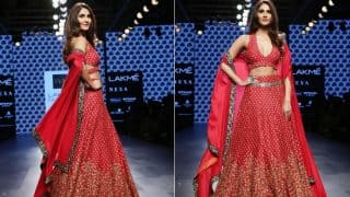Hotness Alert! Vaani Kapoor Owns the Runway in this Sexy Red Lehenga at Lakme Fashion Week 2017!