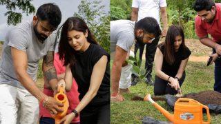 Lovebirds Anushka Sharma And Virat Kohli Plant A Sapling TogetherIn Sri Lanka - View HQ Pics
