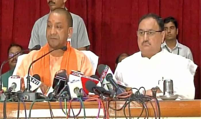 UP CM Yogi Adityanath breaks down while addressing media on deaths of children in Gorakhpur's BRD hospital. (File Photo/ANI)