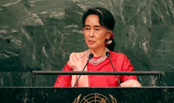 सू की म्यामांर की पूर्व सरकार के तहत लोकतंत्र स्थापित करने की सक्रियता के लिए शांति के नोबेल पुरस्कार से सम्मानित हो चुकी हैं. फाइल फोटो: gettyimage