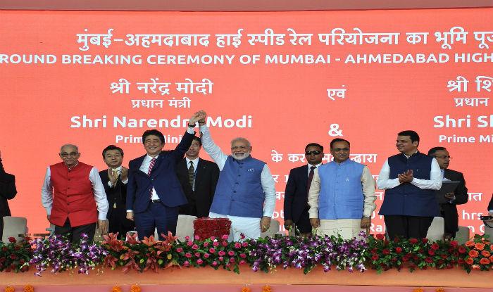 PM Modi and his Japanese counterpart Shinzo Abe.