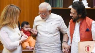 Adnan Sami Visits PM Modi With Daughter Medina - See Pic