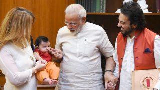 Adnan Sami Visits PM Modi With Daughter Medina - See Pic
