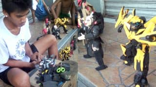 Superhero Action Figures Made From Used Rubber Chappals Will Give Tough Competition To Any Toy Manufacturing Company
