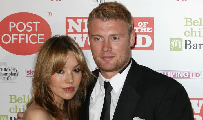 Andrew Flintoff and wife Rachael