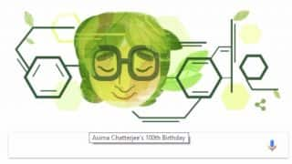 Dr Asima Chatterjee's 100th Birthday Celebrated By Google: Search Engine Honours India's First Female Doctorate of Science With Doodle