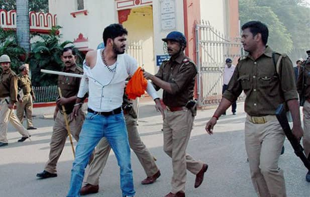 Injured As Police Lathi Charge Protesting Students At BHU