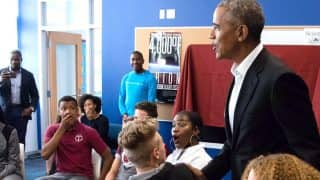 Barack Obama Met A Group Of High School Students And Left Everyone Surprised (Watch Video)