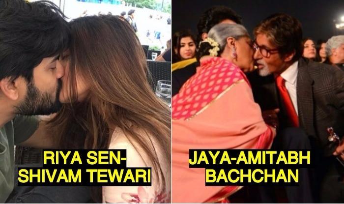 Celebs kissing in public