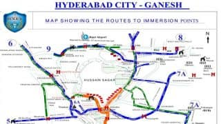 Ganpati Visarjan in Hyderabad: Police Release Traffic Advisory For Idol Immersion, Procession Routes