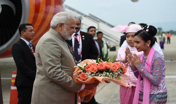 PM Modi gets ceremonial welcome at Presidential Palace in Myanmar