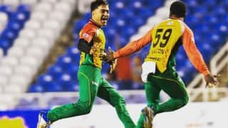 Afghanistan's Rashid Khan Takes First Ever Hat-trick in CPL T20, Watch Video