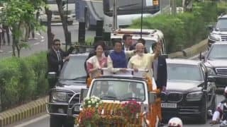 In Photos: PM Narendra Modi, Japanese PM Shinzo Abe's Roadshow From Ahmedabad Airport to Sabarmati Ashram