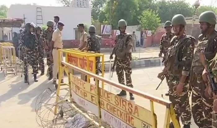 Security has been beefed up outside Dera headquarters (ANI)
