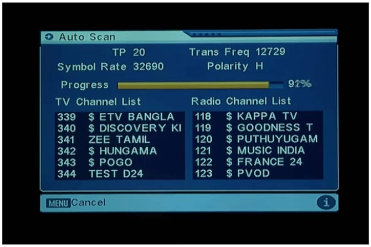 Channel Number of Zee Channels Revised on DD Free Dish