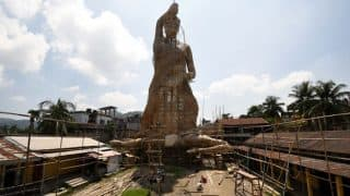 This Navratri, West Bengal's Bamboo Durga Idol Aims To Enter Guinness Book Even After Being Toppled By Wind