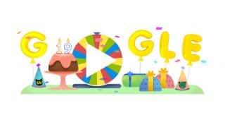 Google's 19th Birthday: With A Colorful Surprise Spinner And Games The Search Engine Is Bringing In Its Birthdate In Style