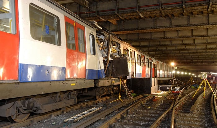 London Train bombing (Image:Getty)