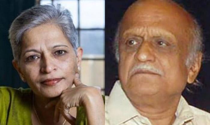 Gauri Lankesh and MM Kalburgi (File image)