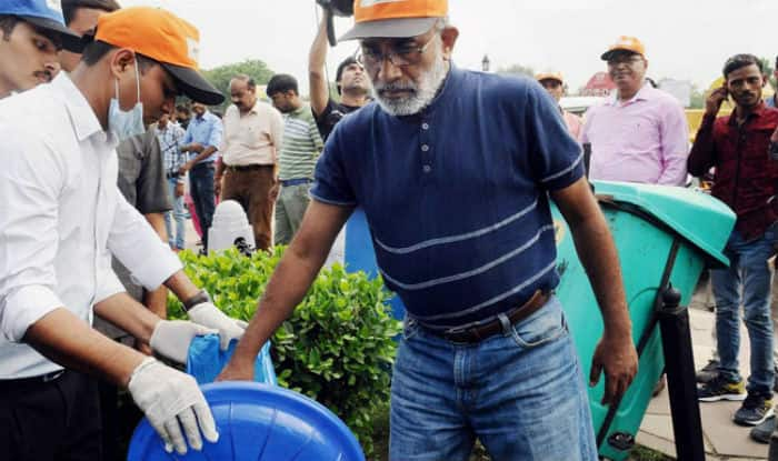 Union Minister Alphons Kannanthanam at India Gate (Image: PTI)