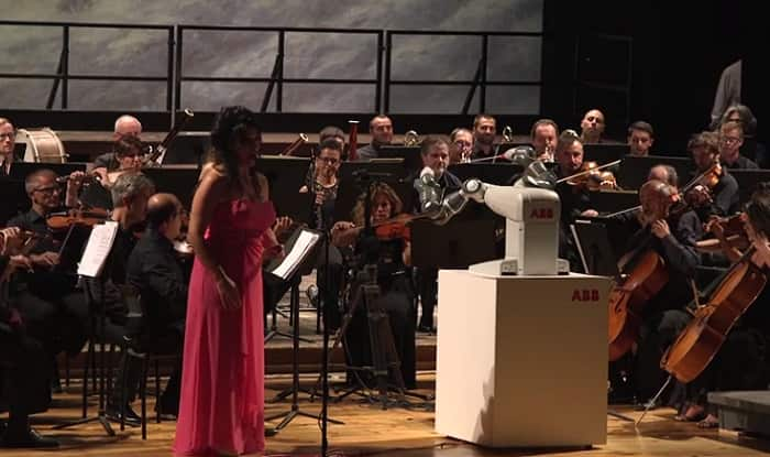 ABB's Dual-Armed Robot YuMi Becomes First in The World to Conduct Orchestra