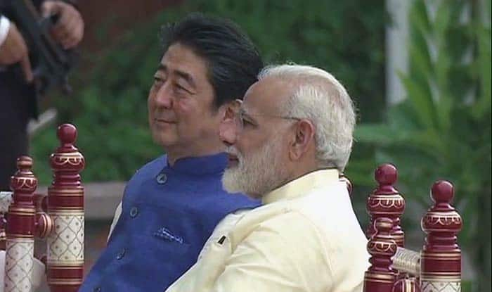 PM Modi welcomes Japan PM Shinzo Abe in Ahmedabad