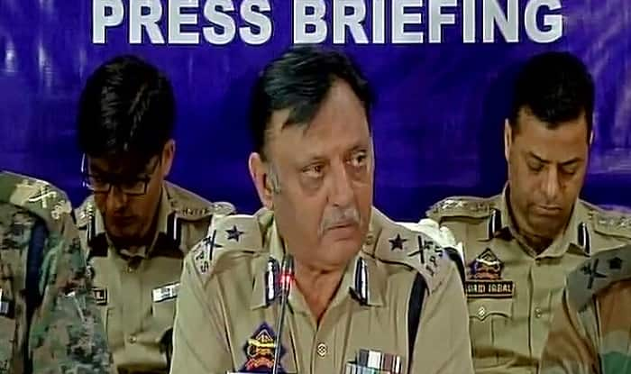 Inspector General Muneer Khan addressing the press conference after encounter of Abu Ismail. [Photo: ANI]