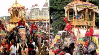 Mysore Dasara Procession 2017 Live Streaming: Watch Video of Jamboo Savari or Dussehra Celebrations in Mysore Karnataka