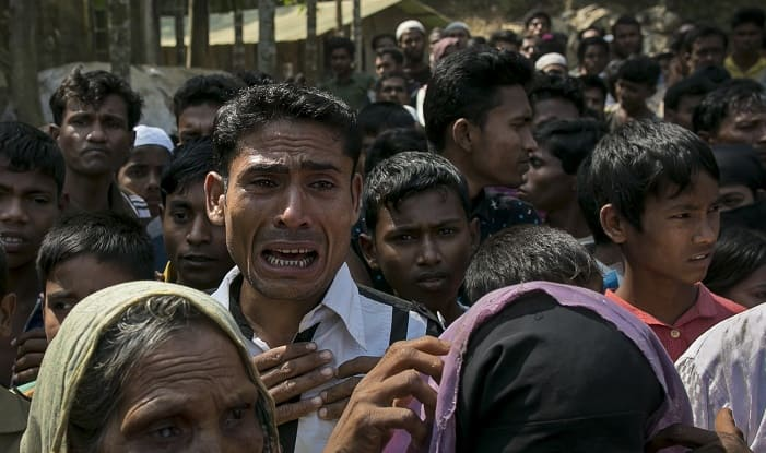 Protests across Asia over Myanmar's treatment of Rohingya Muslims