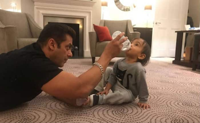 Salman Khan enjoys breakfast with nephew Ahil in London
